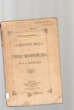 """la questione biblica e l enciclica """"providentissimus deus - di s,s,leone XIII-"""