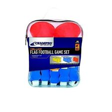 New Champro Deluxe Flag Football Game Set w 10 Belts 4 Marker Discs & Carry Bag