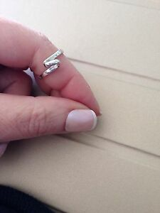 Sterling Silver Curl Swirl Ring 925 Size L