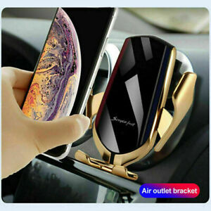 WIRELESS CAR CHARGER SMART SENSOR SIMPLE FAST AUTOMATIC Qi 360° PHONE HOLDER