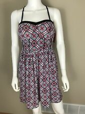 Xhilaration for Target Women's Size M Dress NWT Pink Turquoise Lace Pockets