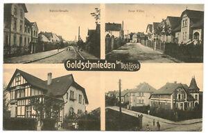 Ak Goldschmieden Deutsch Lissa Bahnhofstraße Neue Villen 1915 Feldpost IR 103 !