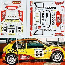 Citroën Saxo Rally Catalunya 2002 #65 Romani Sola - 1:43 Pegatina Adhesivo