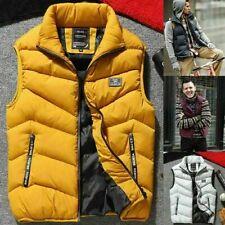 Мужские зимние теплые вниз стеганая жилет тело без рукавов с подкладкой куртка пальто верхняя одежда