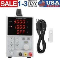 DC Power Supply 110/220V 0-30V 0-5A Programmable LED Display Digital LW‑305E USA