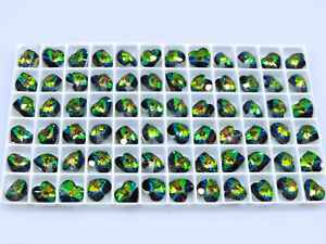 10 Pcs. SWAROVSKI® Crystal Heart Beads,ART#6202/6228 10mm Hearts, VITRAIL MEDIUM