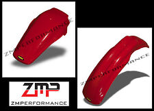 NEW HONDA 85 - 89 CR 250 MAIER RED PLASTIC FRONT AND REAR MOTORCYCLE FENDER