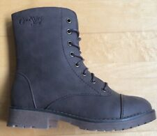 Ladies Fleece Lined Lace Combat Style Boots Brown New Size 4 Uk