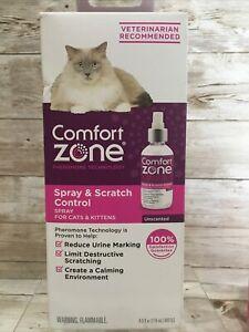 Comfort Zone Spray & Scratch Control Cat Calming Spray, 4.0 oz. Unscented-New