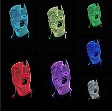 Batman 3D LED Panel Bulbbing Illusion Night Light Desk Table Lamp multicolour UK