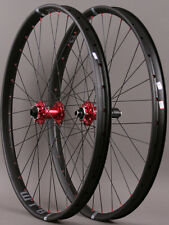 WTB Asym I35 TCS 29er Wheelset Novatec Convertible Red Hubs Thru Axle or QR