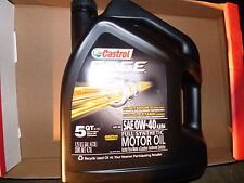 Extreme Anti-Wear Protection CASTROL Edge 0W-40 Best Synthetic Oil - 5 Quarts