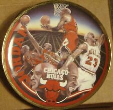 1993 Michael Jordan NBA Basketball Superstar Collector Series Gold Edition Plate