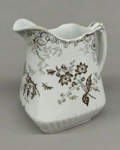 Antique - Powell Bishop & Stonier Chelsea - Brown Transfer Pitcher - England