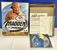 NFL Madden 2000 Football PC CD-ROM 1996 BIG BOX Game Mint Disc Complete Manual