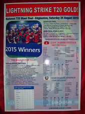 Lancashire Lightning T20 Blast vincitori 2015-stampa souvenir