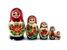 Matrioskas Muñecas Rusas matryoshka babushka madera nuevo conjunto de 5 pcs