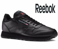 🔥 Latest 2019 REEBOK CLASSIC LEATHER ® ( Men All Sizes : 6 -12 ) Triple Black