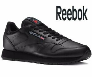 ⚫ 2020 Genuine REEBOK CLASSIC LEATHER ® (Men UK All Sizes: 6 - 12) Triple Black