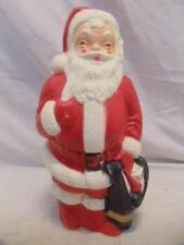 "Vintage Empire Plastic Corp 1968 13"" Blow Mold Santa Christmas Decor"