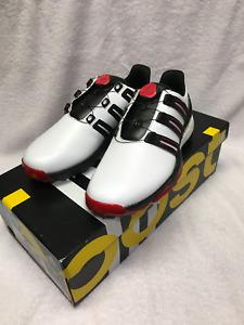 Adidas Powerband BOA Boost White/Core Black/Scarlet Golf Shoes Size 9.5 M NWT!!!
