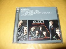Queen Greatest Hits Interactive Songbook 2 x cd - Rom 2000 Near Mint +