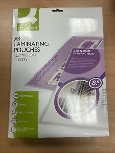 A4 laminating pouches, 125 Micron, Pack Of 25