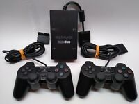 Playstation 2 PS2 Dualshock 2x  Controller Black + multi-player gamestop adapter