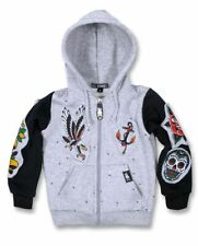 Kinder Sweatjacke Kapuzenjacke Oldschool Rockabilly Six Bunnies Rock n Roll