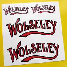 WOLSELEY Stationary Engine logo style sticker decal set