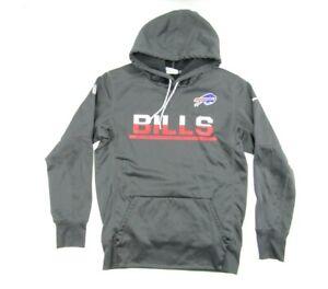 Buffalo Bills Nike NFL Official Onfield Therma Fit Hoodie Sz S Gray Fleece