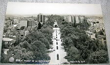 Vintage Ave. Paseo de la Reforma, Mexico Real Photo Postcard - RPPC