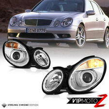 For 03-06 Mercedes-Benz W211 E-Class E320 E350 Chrome Headlight Replacement Lamp