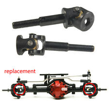 2PCS Steel Front Axle CVD Drive Shafts Dogbone For 1/10 RC 4wd D90 D110 Crawler