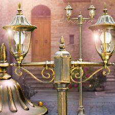 Lampione Alluminio Giardino Illuminazione da Esterno Luce Lanterna Marrone Oro