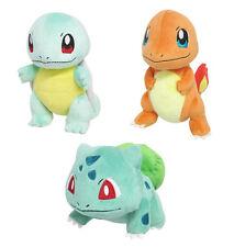 (Set of 3) Sanei Pokemon Go PP17 Bulbasaur, PP18 Charmander, PP19 Squirtle Plush