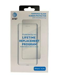 "AT&T Tempered Glass Screen Protector for Apple iPhone 11 & iPhone XR 6.1"" Clear"