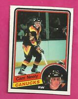 1984-85 OPC # 327 CANUCKS CAM NEELY ROOKIE VG  CARD (INV# D1146)
