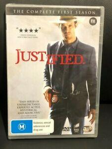 Justified : Season 1 (2012 : 3 Disc DVD Set) Brand New Sealed Plastic Region 4