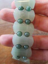 New elasticized green stone jade? handmade bracelet Zambia, Africa