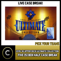 2015-16 UPPER DECK ULTIMATE 5 BOX HALF CASE BREAK #H233 - PICK YOUR TEAM -