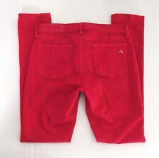 Rag & Bone Womens Jeans 29 Legging Super Skinny Ankle Pink Magenta Stretch USA