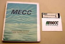 Conquering Ratios and Proportions by MECC for Apple II Plus, IIe, IIc, IIGS