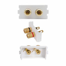 SPEAKER CABLE BINDING POST MODULE/MODULAR WALL FACE PLATE OUTLET - CUSTOMISABLE