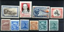 URUGUAY 10 Different Old Mint Postage Stamps-Large & Small