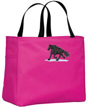 Friesian horse embroidered essential tote Any Color