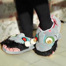 Horrible Plush Zombie Kyonshi Slipper Shoe Home Indoor Unisex Adult Christmas