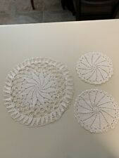 Antique/Vintage Crocheted Doily Lot Of 3
