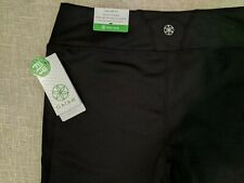 NWT Gaiam Black Yoga Pants OM Fit M Stay put waistband Higher Back NEW