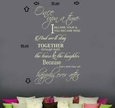 HAPPILY EVER AFTER Quotes decal sticker vinyl wall art home decoration